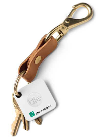 Tile's Key Finder With Corporate Logo